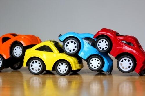 交通事故の様子